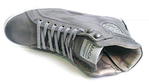 Maca Kitzbühel Schnürboot, Antikleder antracite, herausnehmbares Fußbett für eigene lose Einlagen, 2004