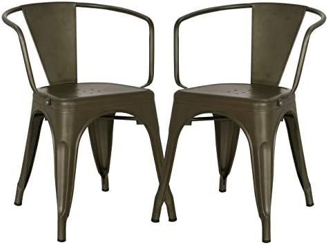 Poly and Bark Trattoria Arm Chair in Bronze Set of 2