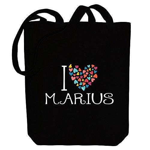 colorful I Tote Names Male Marius love Bag hearts Idakoos Canvas 8OdqwtS