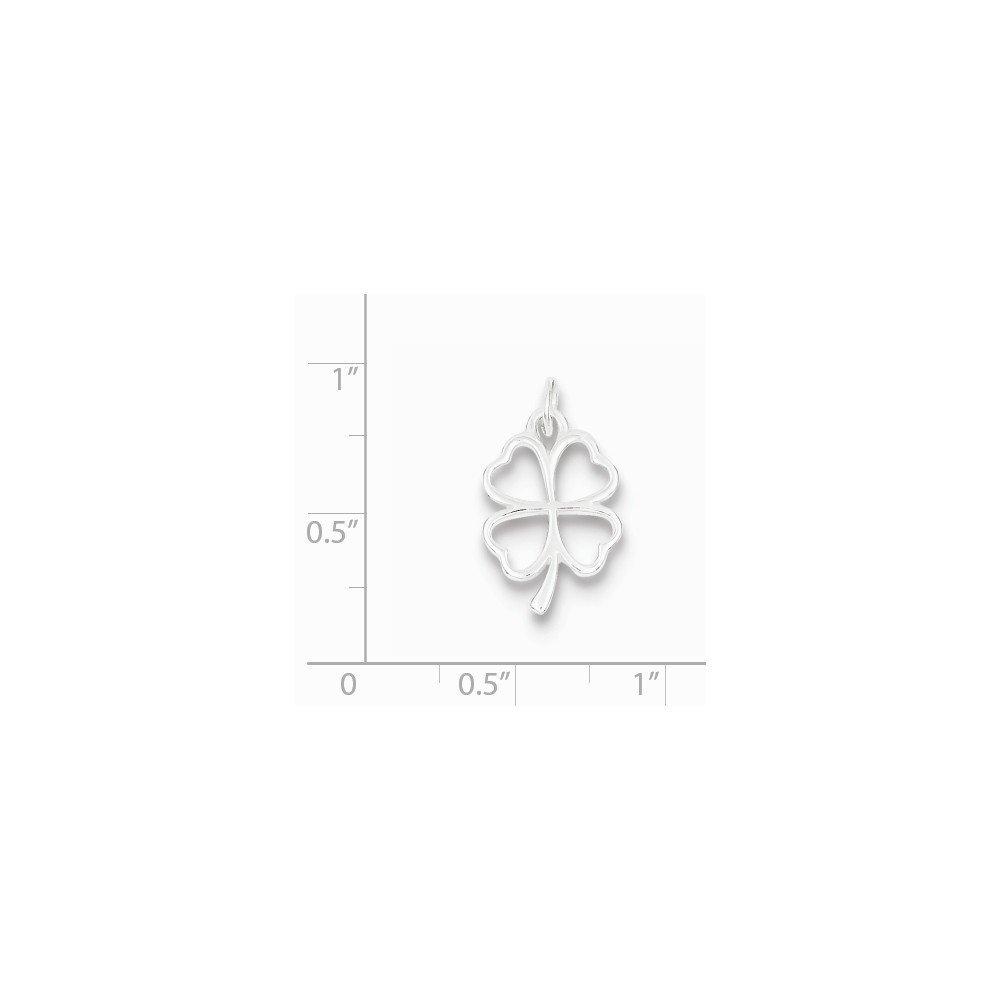 Sterling Silver Four Leaf Clover Charm Pendant
