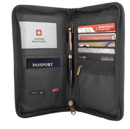 Swiss Military Black Travel Wallet (TW4)