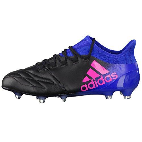 adidas X 16.1 Leather Fg, pour les Chaussures de Formation de Football Homme, Noir (Nero Negbas/Rosimp/Azul), 40 EU