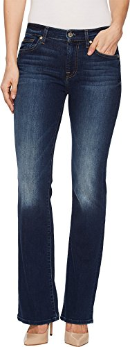 7 For All Mankind Women's Petite Size Tailorless Bootcut Jean, Midnight Rain, 29