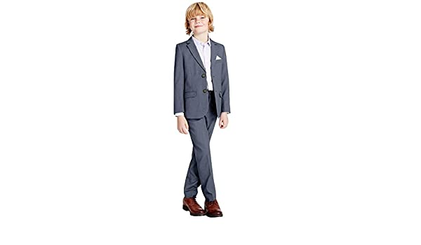 Kelaixiang Boy Formal 3 Piece Boys Suits Set Slim Fit Boy Suit Jacket Pants Vest