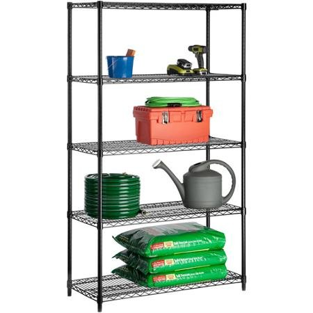 Honey Can Do Urban Shelving 5-Tier Adjustable Storage Shelving Unit 72'', Black by Supernon