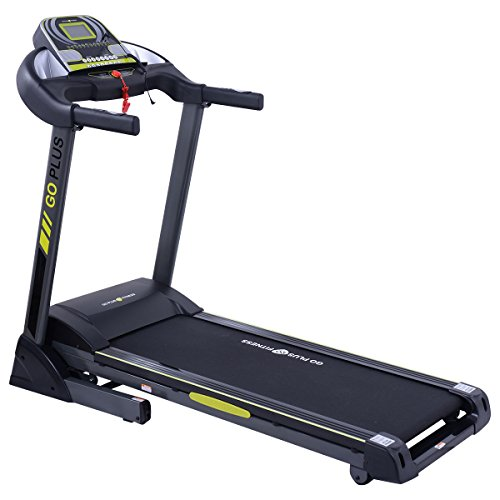 Goplus 2.5HP Folding Treadmill Electric Support Motorized Power Running Fitness Machine (Green)