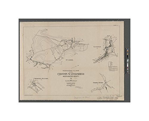 1888 (Inferred) map of Albany, N.Y. Plate II. Sketches of villages of the Croton watershed: Westchester County, pt. A showing sketches of: Bedford Station, Cross River, Katonah, and Mt. Kisc - Cross County Ny