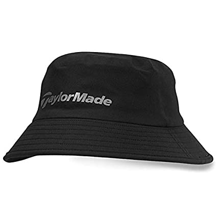 3583350979a TaylorMade 2016 Storm Water Resistant Stretch Fit Men s Golf Bucket Hat  Black Small Medium