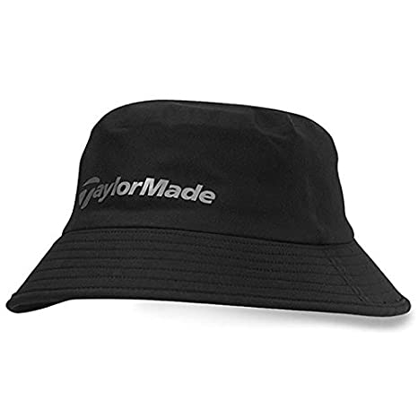 04d9ae23 TaylorMade 2016 Storm Water Resistant Stretch Fit Men's Golf Bucket Hat  Black Small/Medium