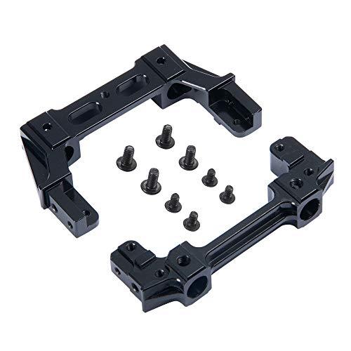 (RCLIONS CNC Aluminum Alloy Front&Rear Plate Bumper Mount for AXIAL SCX10 II 90046 1/10 RC Crawler Car)