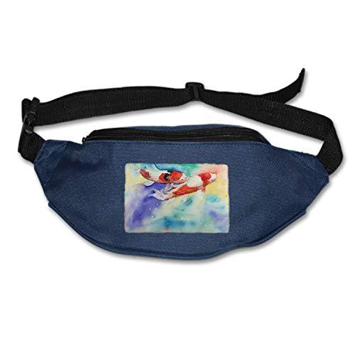 MXYG Running Belt Koi Fish Waist Pack-Water Resistant Runners Belt Fanny Pack for Hiking Fitness– Adjustable Running Pouch