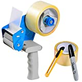 Packing Tape Gun Dispenser with 2 Rolls 2'' x 165' Clear Tape, Utility Knife, Premium Marker