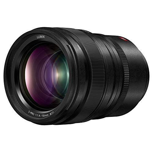 Panasonic LUMIX S PRO 50mm F1.4 Lens, Full-Frame L Mount, Leica Certified, Dust/Splash/Freeze-Resistant for Panasonic LUMIX S Series Mirrorless Cameras – S-X50 (USA)