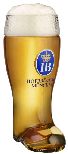 Hofbrauhaus Munich Munchen Glass German Beer Boot 1 L Germany Oktoberfest -
