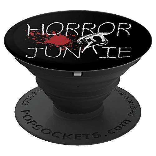 Horror Junkie Horror Movie Lover Blood Splatter Monster Hand - PopSockets Grip and Stand for Phones and Tablets ()