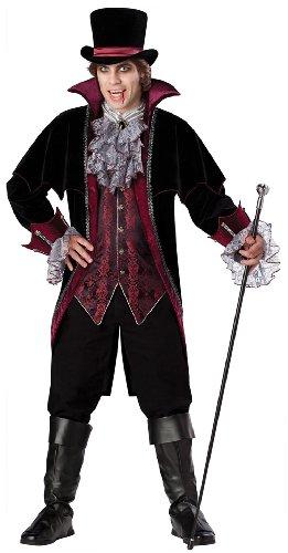 InCharacter Costumes Men's Vampire Of Versailles Costume, Black/Burgundy, Medium -