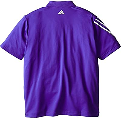 adidas Golf Boy's Climacool 3 Stripes Polo