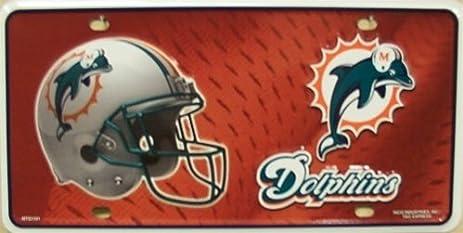 miami dolphins license plate frame nfl - Miami Dolphins License Plate Frame