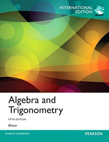 Algebra and Trigonometry (5th Edition) Pdf