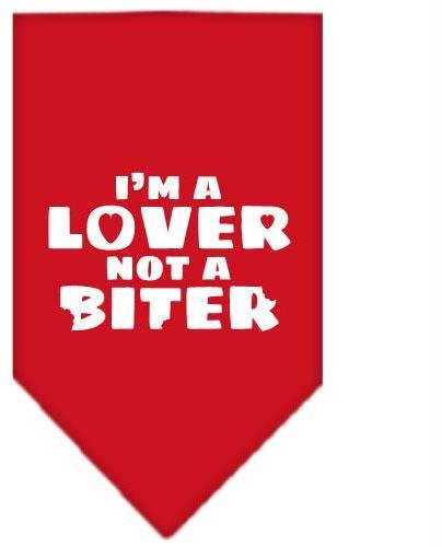 I'm a Lover Not a Biter Screen Print Bandana Red Large Case Pack 24 I'm a Lov... by DSD