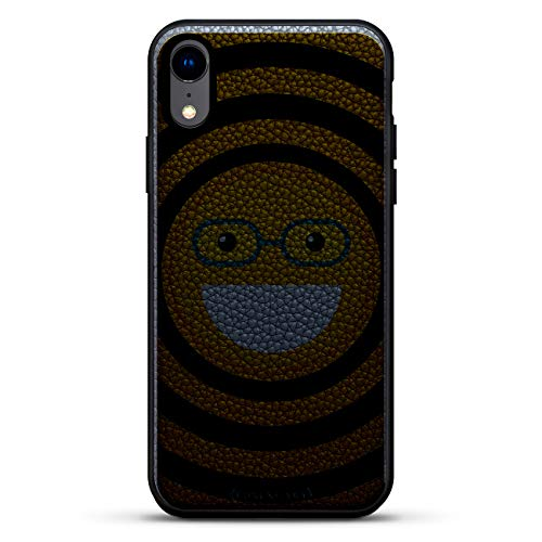Emojis: Emoji with Eye Glasses | Luxendary Leather Series Slim Edition Case w/Genuine Leather Back & 3D Printed Design for iPhone XR (6.1