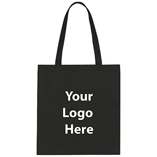 "Economy Tote Bag - 100 Quantity - $1.25 Each - Promotional Product/Bulk with Your Logo/Customized Size: 13-1/2"" W x 14"" H ()"