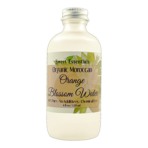 Organic Moroccan Orange Blossom (Neroli) Water | 4oz Glass Bottle | Imported From Morocco | Food Grade | Packed With Natural Antioxidants | Perfect for Hydrating & Rejuvenating Your Face & Neck