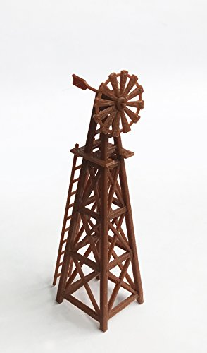 ay Layout Country Farm Windmill (Brown) HO Scale 1:87 (Farm Model)