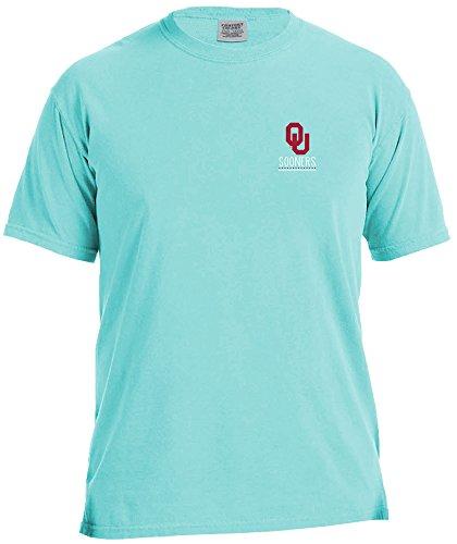 School Football Short Sleeve T-shirt - NCAA Oklahoma Sooners Life Is Better Comfort Color Short Sleeve T-Shirt, Island Reef,IslandReef