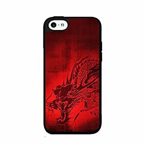 Bright Red Dragon 2-Piece Dual Layer Phone Case Back Cover iPhone 4 4s