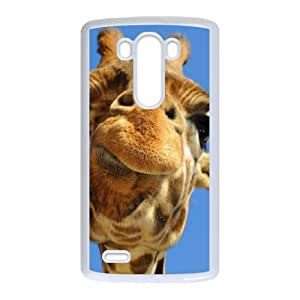 Cool Giraffes with Sunglasses LG G3 Cell Phone Case White LMS3887355