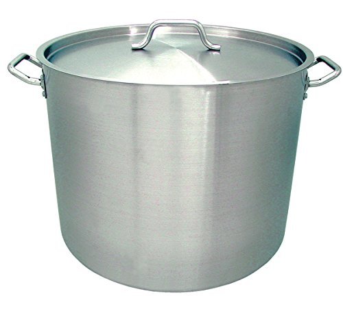 Update International (SPS-60) 60 Qt Induction Ready Stainless Steel Stock Pot w/Cover by Update International