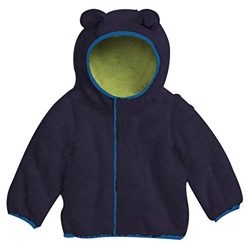 Magnificent Baby Unisex Baby Hooded Bear Jacket Navy