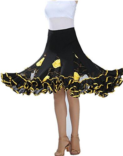 FaithYoo - Falda - para mujer amarillo