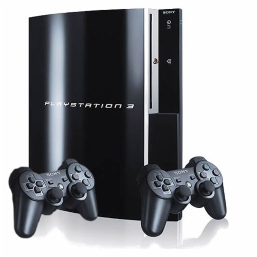 Sony Playstation 3 80GB Piano Black Console with 2 Controllers (Certified Refurbished)