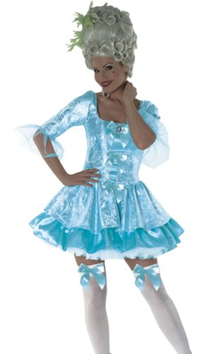 Marie Antoinette Queen Blue Female Fancy Dress Costume - Medium (US 10-12)