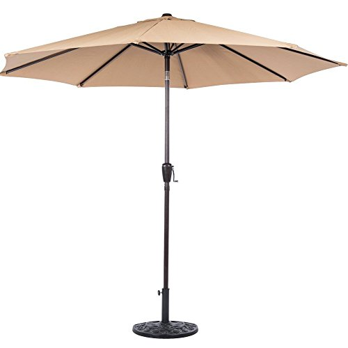 Sundale PU005 9-Feet Aluminum Patio Umbrella, Tan