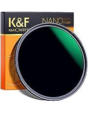 K&F Concept 58MM ND1000 Filter 10 Stops Neutral Density Lens Filter ND 1000 Filter Multi-Coated Optical Glass Grey for DSLR Camera