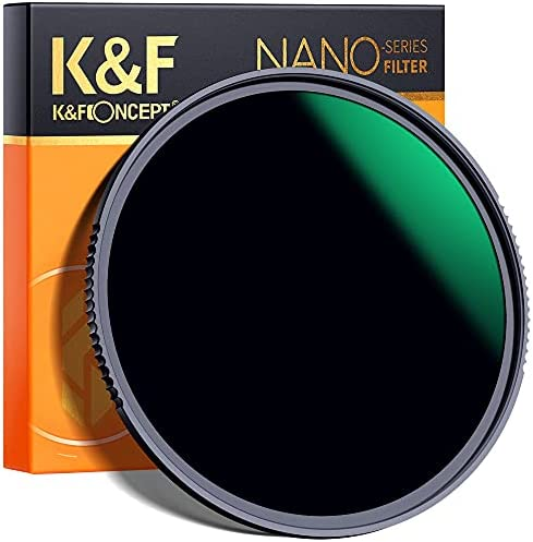 K F Concept 82mm Fixed ND Filter ND1000 10 Stops Neutral Density Lens Filter MultiCoated Optical Glass Neutral Grey ND with MultiResistant Nano Coating