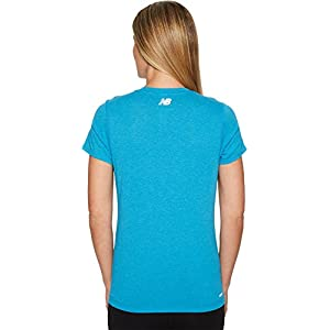 New Balance Womens Heather Tech Tee Maldives Blue Heather 2XL One Size