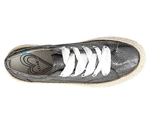 Argento Sneakers DH903 Scarpa Tessuto CAFèNOIR Donna Lurex 337 Piombo In qBwdp
