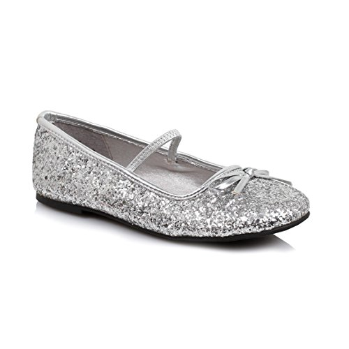Ellie Shoes 0 Heel Ballet Slipper with Childrens. XL SLVG apgfw