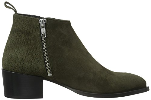 Ankle Croco Green Olive Boots COPENHAGEN Women's GARDENIA Alina Olive Suede wqBT1tCRn