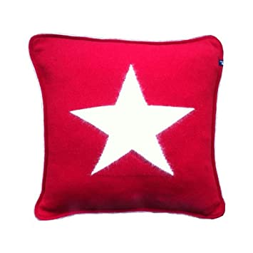 Gant Kissen gant home angora big kissen 50 x 50 cm rot ohne füllung