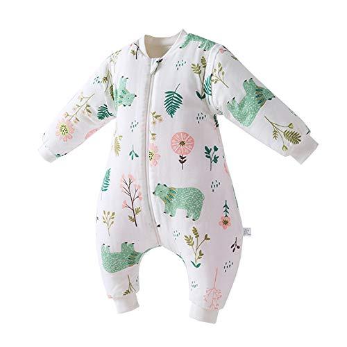 Fairy Baby Toddler Baby Unisex Winter Warm Sleepsack Bag Romper Thick Wearable Blanket Size 1T (Bear)