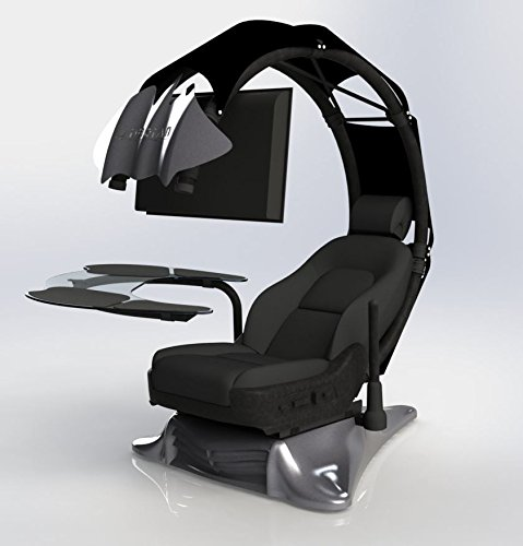 41C nnjK46L - Pre-order(Order leadtime : 4 weeks after order) Drian Workstation Game Chairs IT & Furniture Converged Gaming chair For office and Home and Game(Chic Black)For Double Monitor & Right door direction