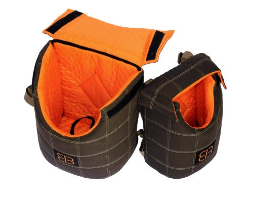 Suede Dog Carrier (Petego LENIS PACK Front Carrier / Back Pack Small Animal Pet Carrier. Size 10
