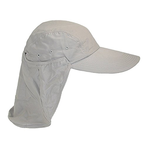 44e6ff408941d Amazon.com  Fishing Hat with Removable Neck Flap by Dorfman Pacific (One  Size