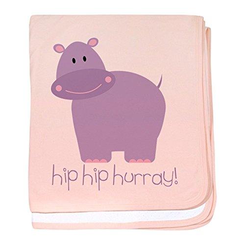 (CafePress - Hip Hip Hurray! Hippo - Baby Blanket, Super Soft Newborn Swaddle)