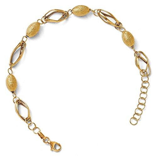 """Texturé et poli 14 carats Perles Bracelet 1 """"- 7 cm-Extension JewelryWeb"""